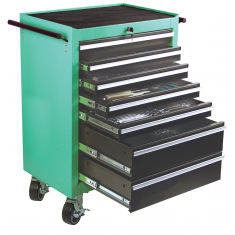 M28270 Workshop trolley with assorted tools, 321 pcs.