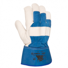 405B Glove flower beef and canvas of american court