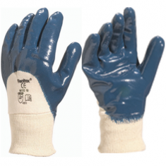 Nitrile glove ventilated back